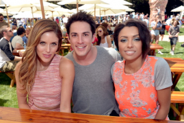 Michael Trevino and his co-stars from 'The Vampire Diaries.'