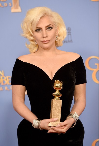 """Singer Lady Gaga won Best Performance in a Miniseries or Television Film for """"American Horror Story: Hotel"""" during the 73rd Annual Golden Globe Awards on January 10 in Beverly Hills, California."""