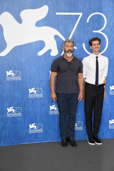 "Director Mel Gibson and actor Andrew Garfield attended a photocall for ""Hacksaw Ridge"" during the 73rd Venice Film Festival at Palazzo del Casino on Sept. 4 in Venice, Italy."