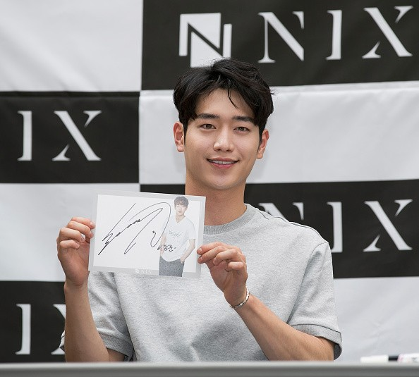 Actor Seo Kang Joon during the autograph session for 'NIX'.