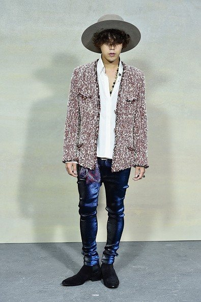 BIGBANG's G-Dragon in attendance during a Chanel show in Paris.