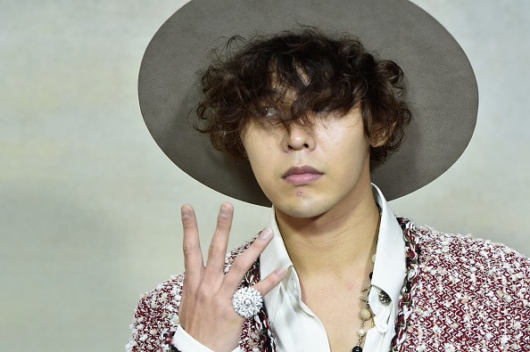 BIGBANG member G-Dragon attends a fashion event held in Paris, France.