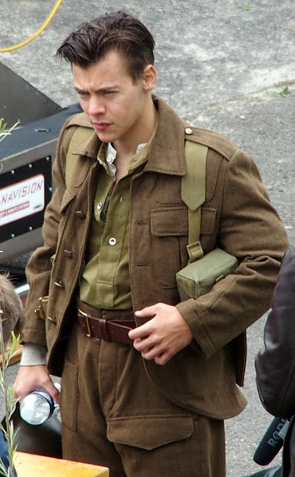 Harry Styles on the set of 'Dunkirk'