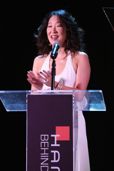Actress Sandra Oh spoke onstage during the Hamilton and Los Angeles Confidential Magazine's announcement of the 7th Annual Hamilton Behind The Camera Awards.