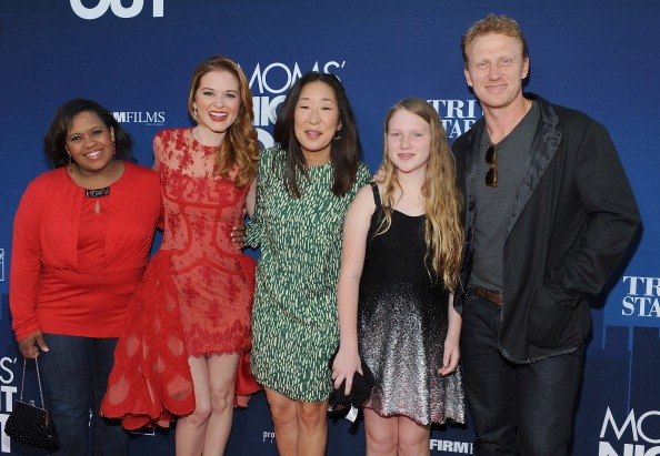 """Sandra Oh with the cast arrived at the premiere of TriStar Picture's """"Mom's Night Out"""" at TCL Chinese Theatre IMAX on April 29, 2014 in Hollywood, California."""