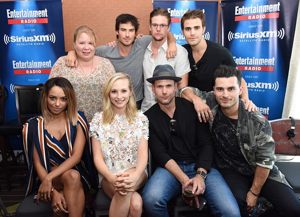 "Writer and producer Julie Plec and ""The Vampire Diaries"" cast attended SiriusXM's Entertainment Weekly Radio Channel Broadcasts From Comic-Con 2016 at Hard Rock Hotel San Diego on July 22 in San Diego, California."