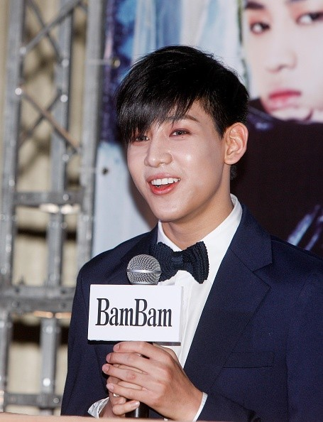 GOT7's BamBam during a press conference for their concert.