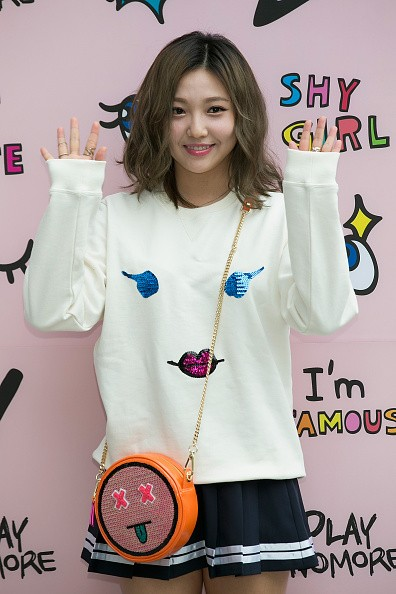 Miss A's Min during the photocall for 'PlayNoMore' Pop-Up Store.
