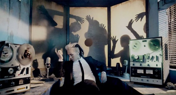 BIGBANG leader G-Dragon in his 'Crooked' MV. The song is part of his second album Coup d'Etat which was released on September 2013.