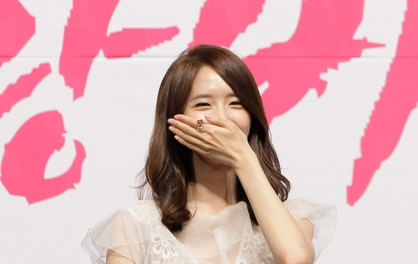 """Girls' Generation member YoonA in attendance during a press conference for """"Love Rain"""" drama."""