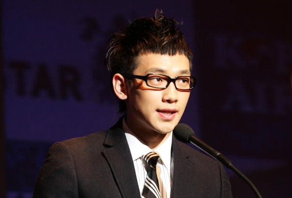 """Singer-actor Rain during a press conference for """"Rain's Coming"""" world tour."""