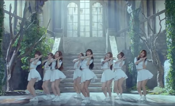 """Oh My Girl members featured in the official music video of their single """"Closer."""""""