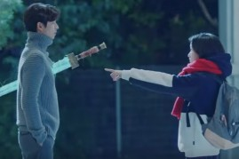 Actors Gong Yoo and Kim Go Eun in the episode 3 of drama series