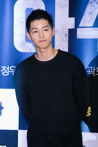South Korean actor Song Joong-Ki attends the VIP screening of 'ASURA:The City Of Madness' on September 23, 2016 in Seoul, South Korea.