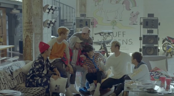 """iKON members in the official music video of """"MY TYPE."""""""