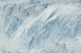Largest glacial calving event ever from the documentary