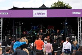 Sony's Xperia Access Stage In The Louder Lounge At The Virgin Media V Festival - Day 2
