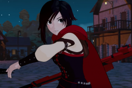 Ruby Rose battles Grimm creatures in a preview from the fourth season of