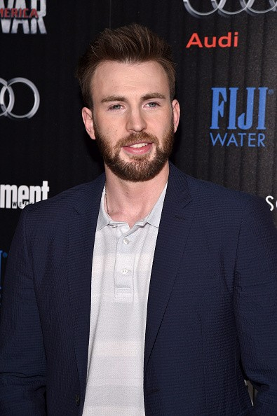 """Actor Chris Evans attended the Cinema Society with Audi and FIJI Water host a screening of Marvel's """"Captain America: Civil War"""" on May 4, 2016 in New York City."""