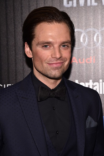 """Actor Sebastian Stan attended the Cinema Society with Audi and FIJI Water host a screening of Marvel's """"Captain America: Civil War"""" on May 4, 2016 in New York City."""