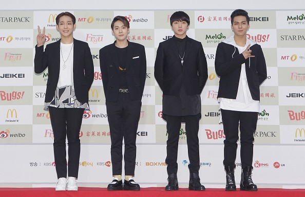 WINNER in attendance during the 4th Gaon Chart K-POP Awards.