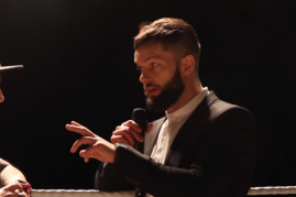 Finn Bálor in his latest public appearance at Chapter 42 of PROGRESS, an indie wrestling event.