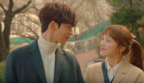 """Nam Joo Hyuk and Lee Sung Kyung in the final episode of """"Weightlifting Fairy Kim Bok Joo."""""""