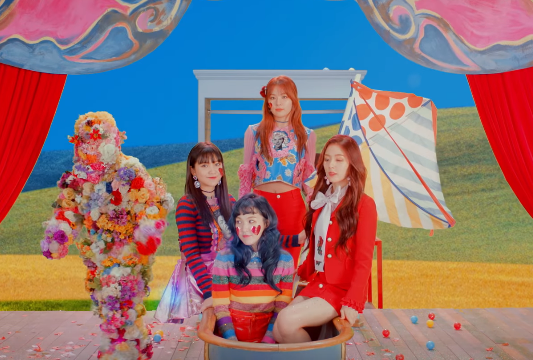 """Red Velvet in """"Rookie"""" MV, their latest title track release from their fourth mini-album of the same title."""