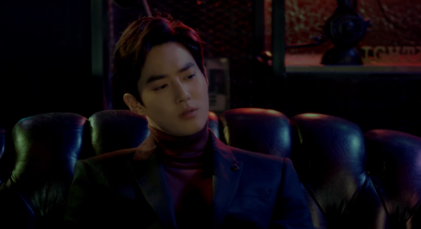 """EXO's Suho in """"Curtain"""" MV featuring pianist Song Young Joo, the last release of SM STATION for its first season."""