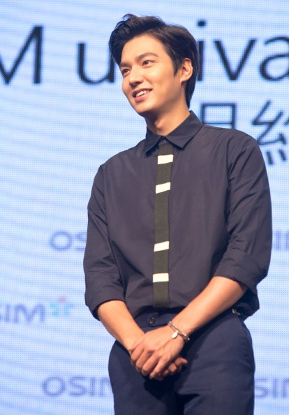 """""""The Legend of the Blue Sea"""" actor Lee Min Ho during his visit in Taipei."""