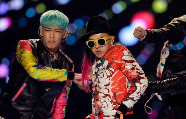BIGBANG's T.O.P and G-Dragon perform at K-Collection in Seoul.