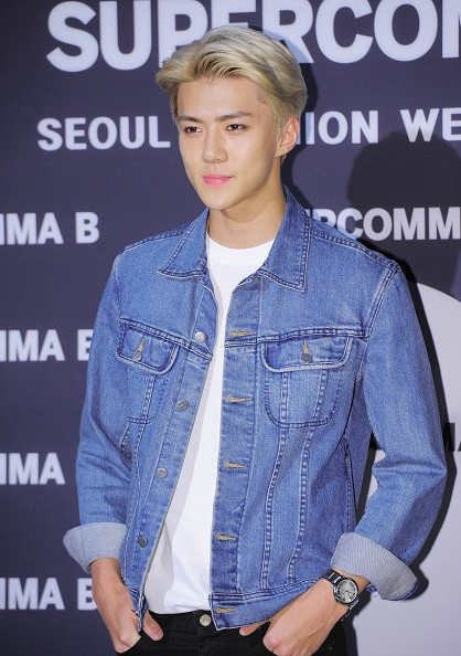 EXO's Sehun during the 2016 Hera Seoul Fashion Week - Supercomma B collection at DDP  in Seoul, South Korea.