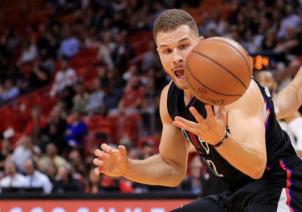 Blake Griffin of the LA Clippers chases down a loose ball during a game against the Miami Heat at American Airlines Arena on Dec. 16, 2016 in Miami, Florida.