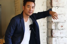 Uhm Tae-Woong poses for photographs on October 21, 2013 in Seoul, South Korea.
