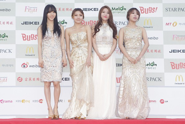 MAMAMOO members in attendance during the 4th Gaon Chart K-POP Awards.