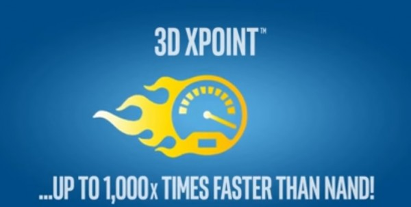 Intel's presentation of 3D XPoint speed