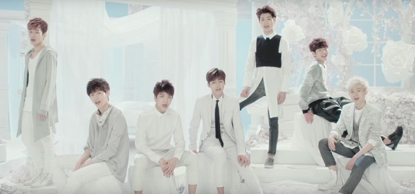 Romeo members in the official music video of 'LOVESICK.'