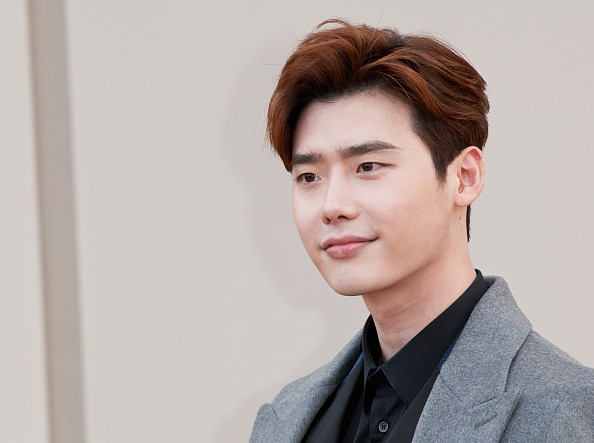 Korean actor Lee Jong Suk in attendance during a Burberry show in London.