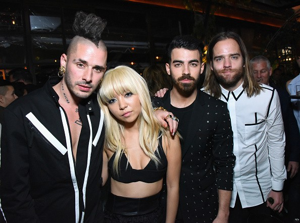 Recording artists Cole Whittle, Jinjoo Lee, Joe Jonas, and Jack Lawless of DNCE at a celebration of music with Republic Records