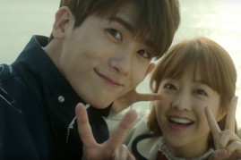 Park Hyung Sik (L) and Park Bo Young (R) in an episode of JTBC's 'Strong Woman Do Bong Soon.'