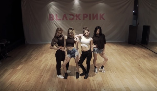 """BLACKPINK members during their dance practice for song """"WHISTLE."""""""