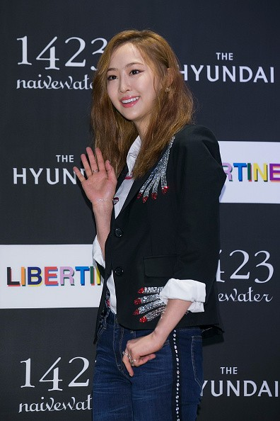 SISTAR Dasom during the photocall for 'LIBERTINE' launch at the Hyundai Department Store in Seoul.
