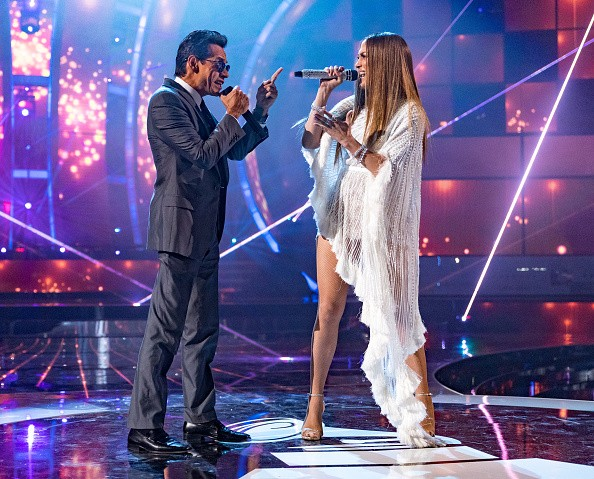 Marc Anthony and Jennifer Lopez perform onstage during The 17th Annual Latin Grammy Awards at T-Mobile Arena on Nov. 17, 2016 in Las Vegas, Nevada.