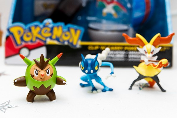 Pokemon toys are displayed as Hamley's announce it's top ten toys for Christmas at Hamleys on Oct. 6, 2016 in London, England.