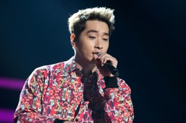 2PM's Chansung performs at the K-Pop