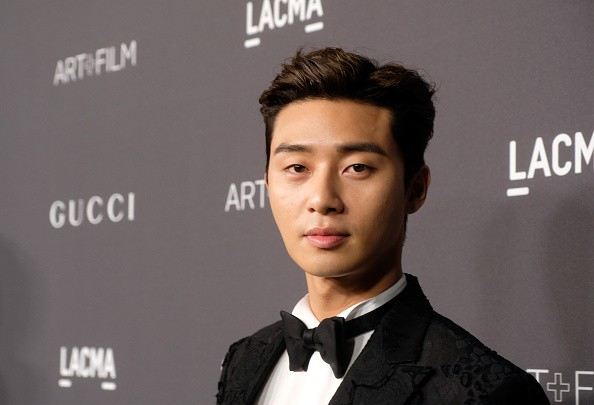Park Seo Joon arrives at the 2016 LACMA Art + Film in Los Angeles, California.