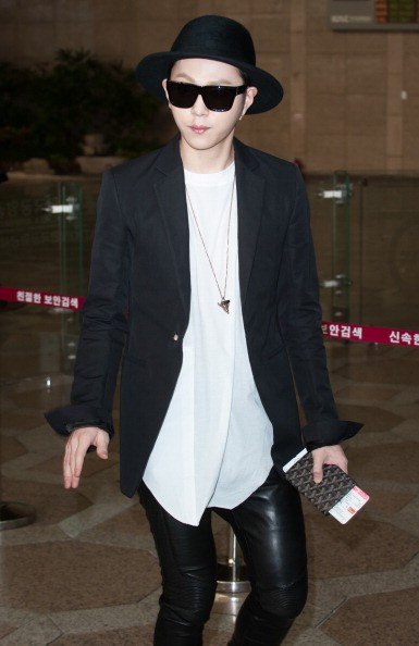 Yong Junhyung at the Gimpo International Airport in Seoul, South Korea.