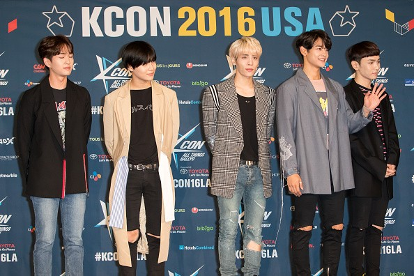 SHINee during the red carpet event at KCON LA 2016.