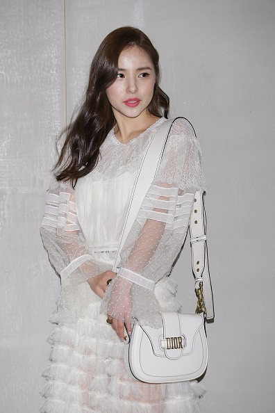 Hallyu star Min Hyo Rin attends during the Dior 2017 S/S Collection.
