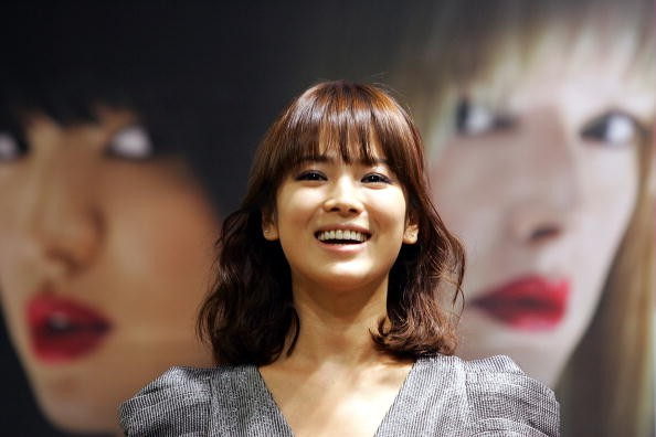 """""""Descendants Of The Sun"""" actress Song Hye Kyo during the Pusan International Film Festival."""